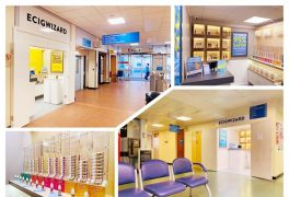 No Reino Unido a Ecig Wizard abre lojas de cigarros eletrónicos no Hospital Geral de Sandwell e no Hospital da Cidade de Birmingham.