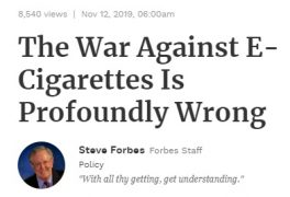 The War Against E-Cigarettes Is Profoundly Wrong