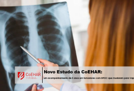 """Estudo do instituto CoEHAR sobre fumadores com a """"doença pulmonar obstrutiva crónica"""" que passaram para os cigarros eletrónicos."""