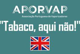 Reino Unido – O governo de Boris Johnson oficializa no parlamento a diferença entre fumo e vapor!